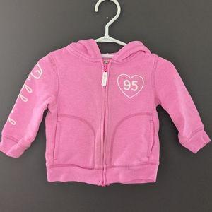 Osh Kosh pink zip up hoodie sweatshirt